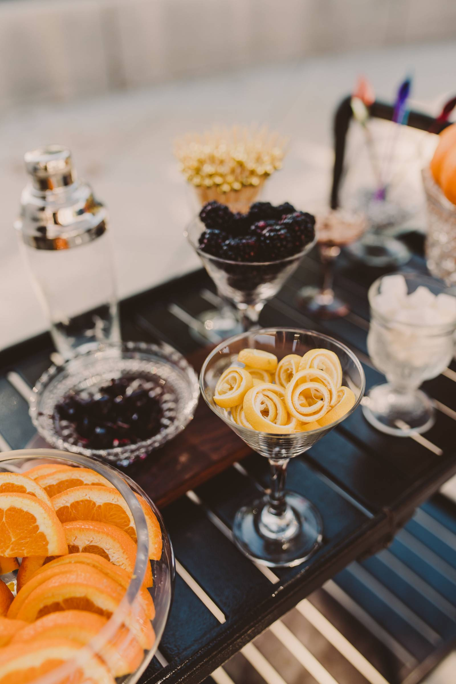 Fruits Sample Table at Edna Valley Winneries | The Wedding Standard