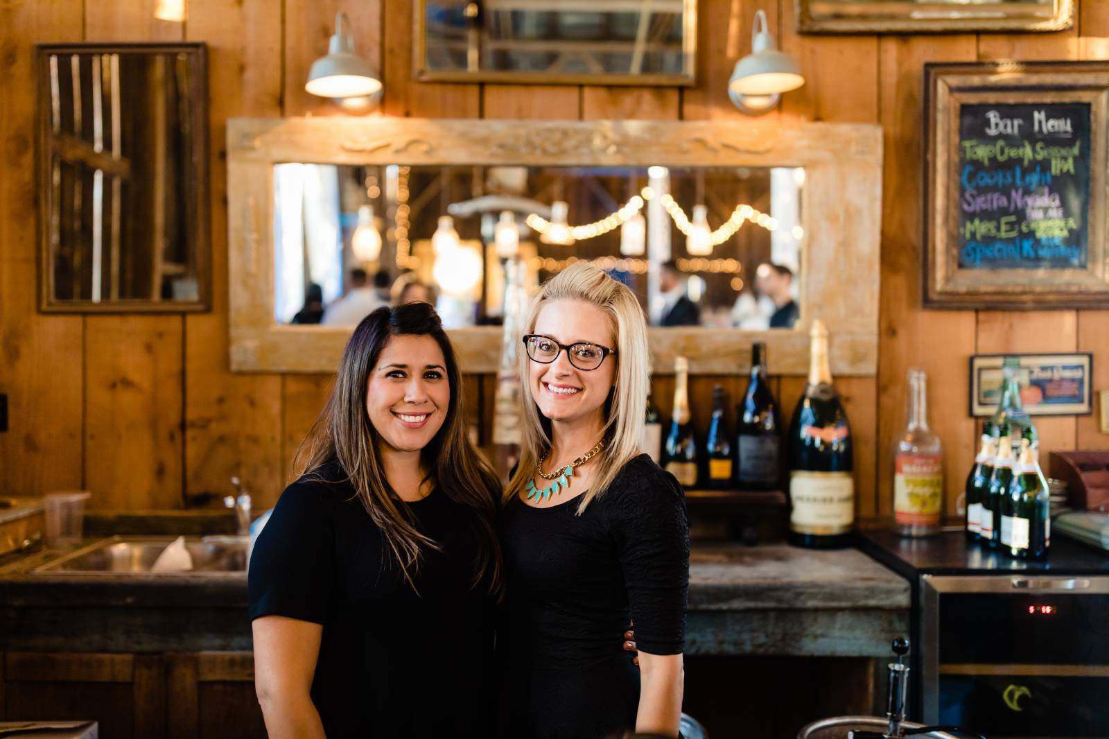 Two Girls at Cocktail and Beverage Shop | The Wedding Standard