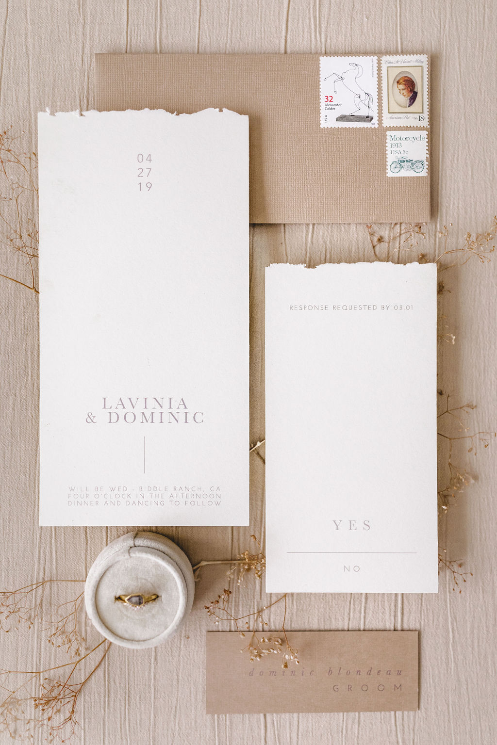 Wedding Card Cover for Lavinia and Dominic Wedding