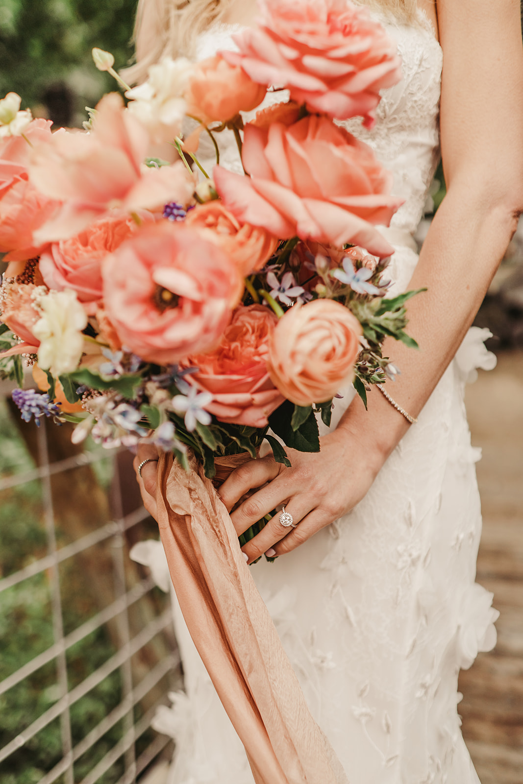 Kaitlin Holding Beautiful Flowers | The Wedding Standard