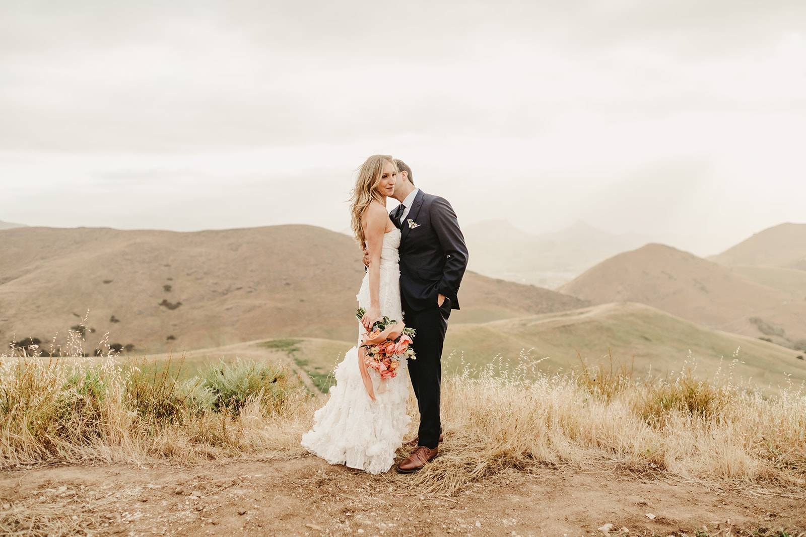 Wedding Couple Shoot with Bright Florals at Rustic La Cuesta Ranch | The Wedding Standard