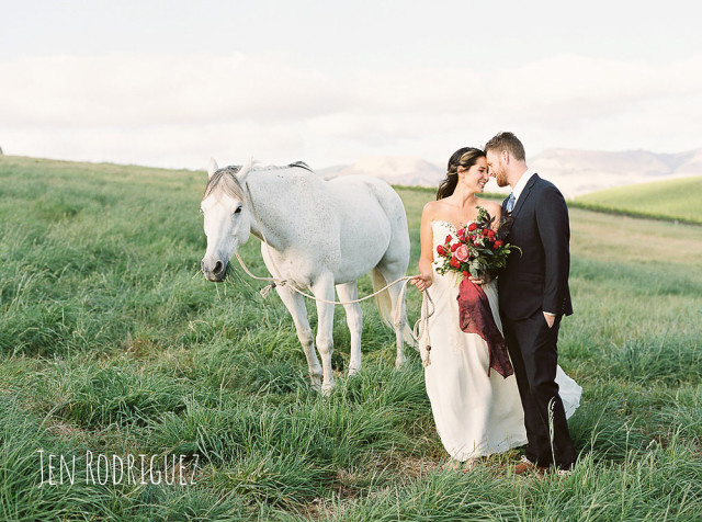 Destination Wedding Shoot of Couple with Horse