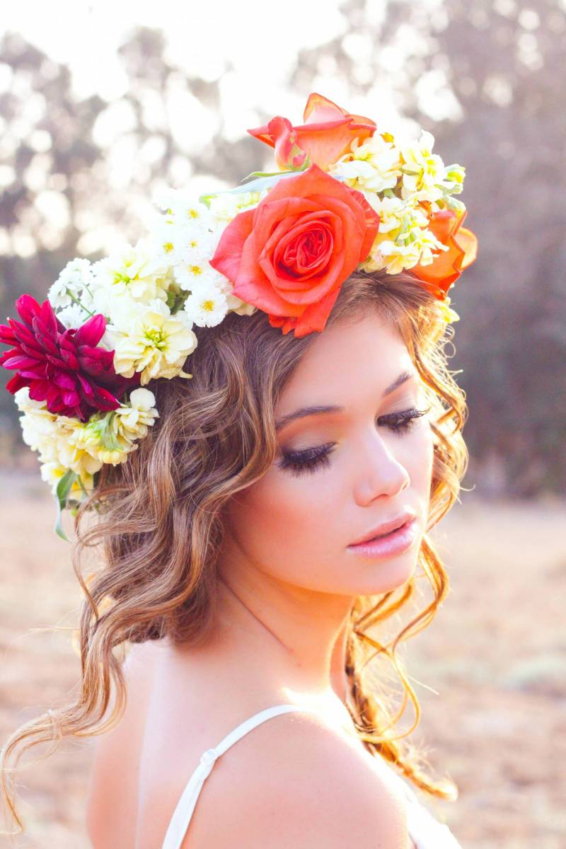 7 awesome flower crowns for spring san luis obispo fashion want an early to mid summer crown this is it all the way full floral crown with locally grown roses dahlias stock and fever few izmirmasajfo