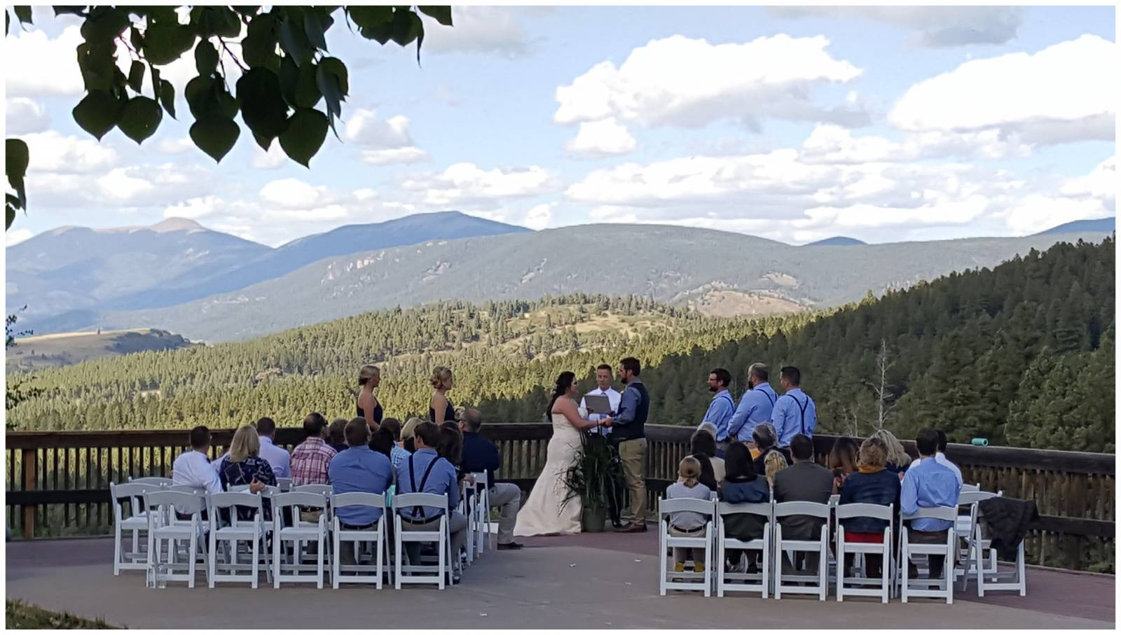 mountain wedding ceremony at Angel Fire Resort