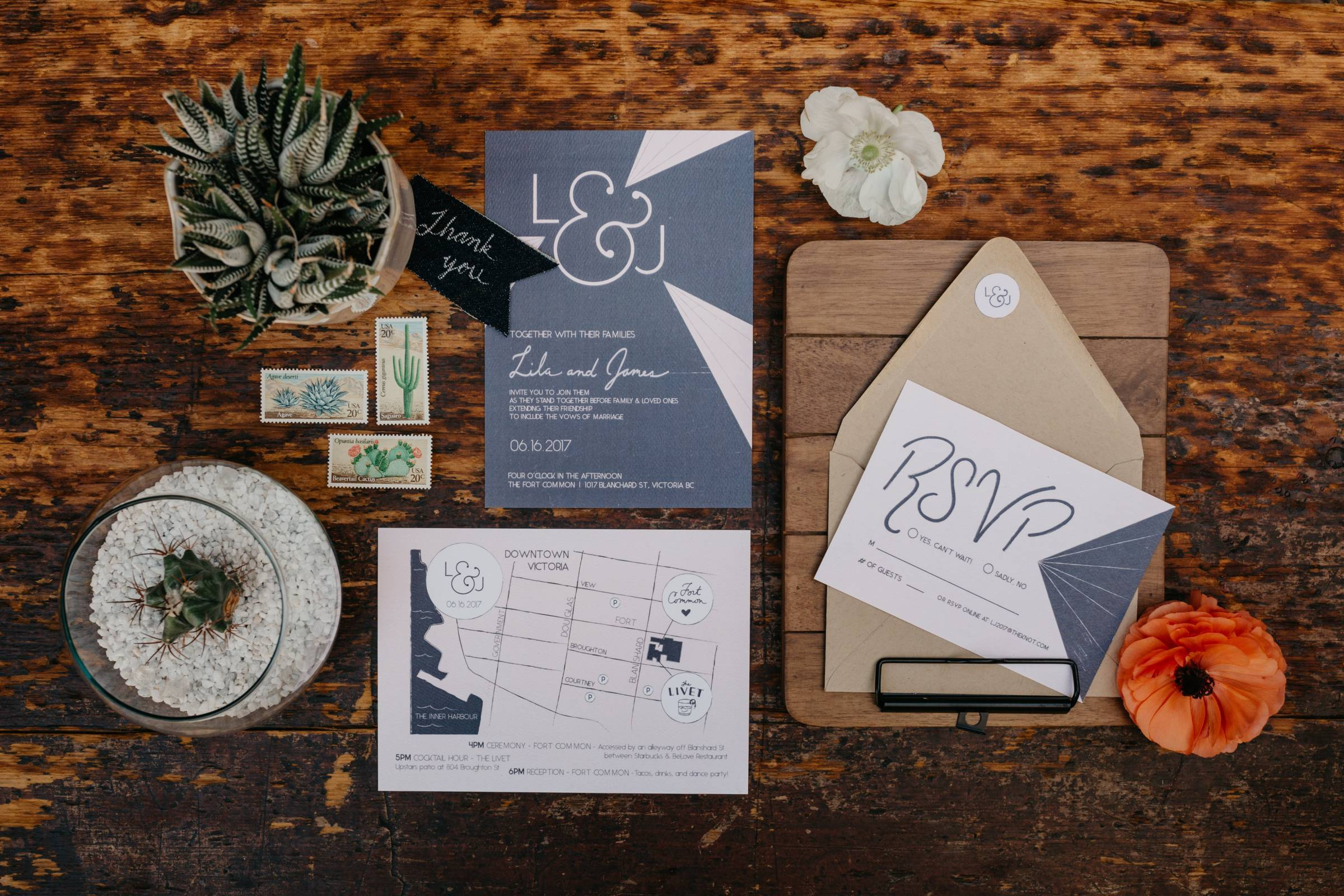 blue and tan wedding invitation suite inspiration by Emma McCormick - Creative Planning + Production
