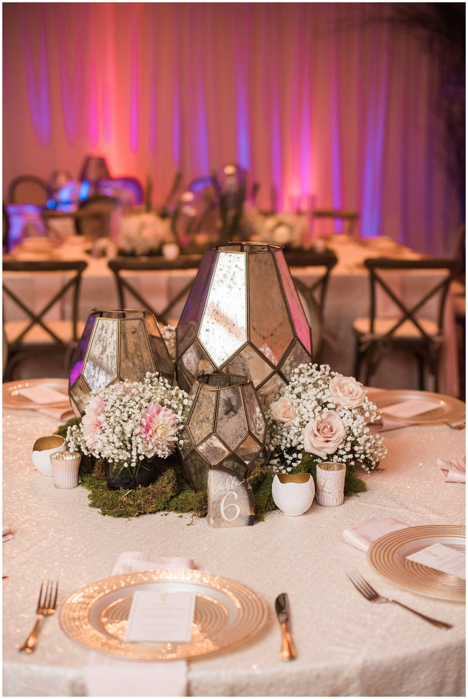 wedding reception decor | Lodge at Whitefish Lake