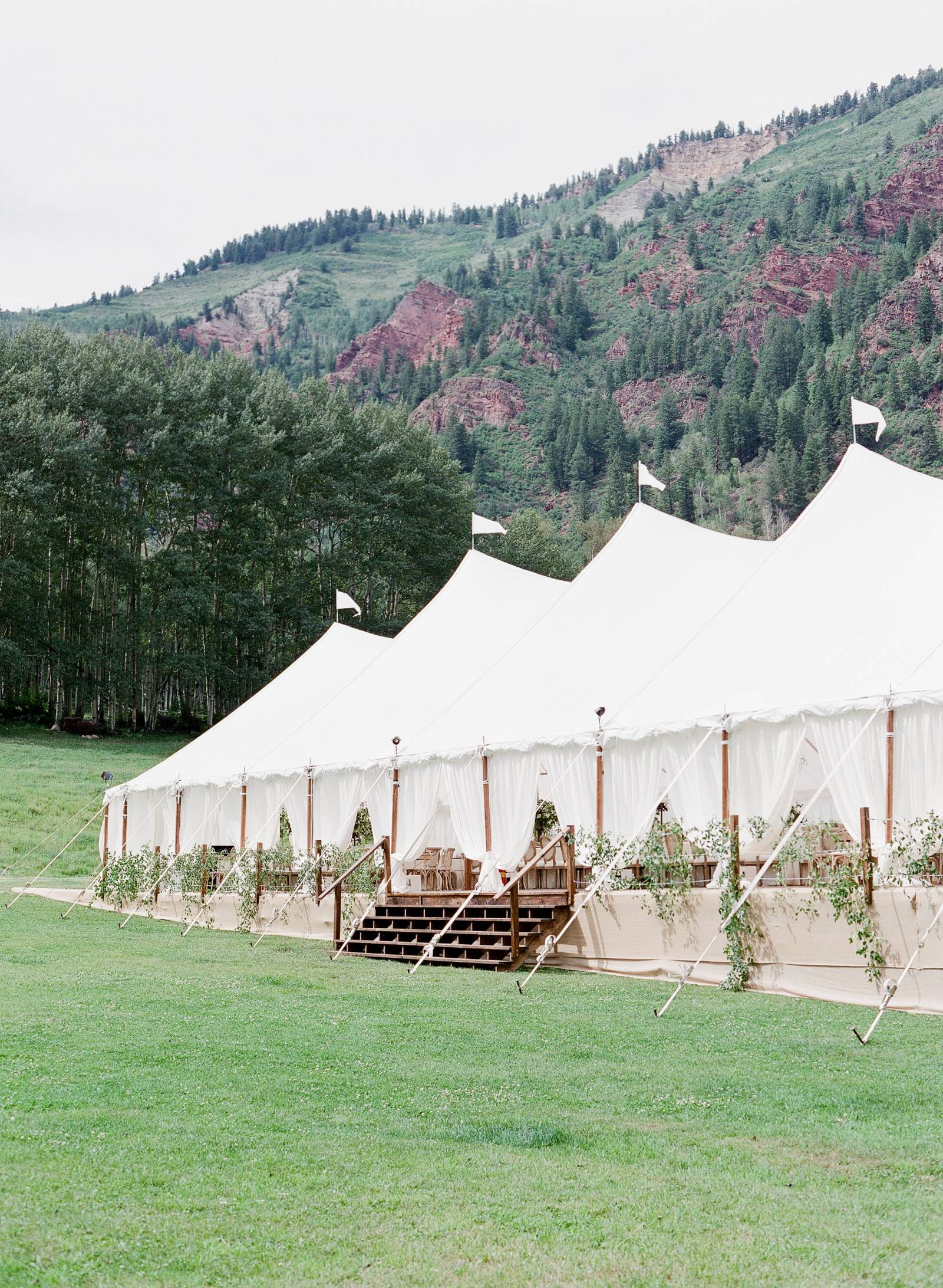 outdoor wedding reception venue at T-Lazy-7