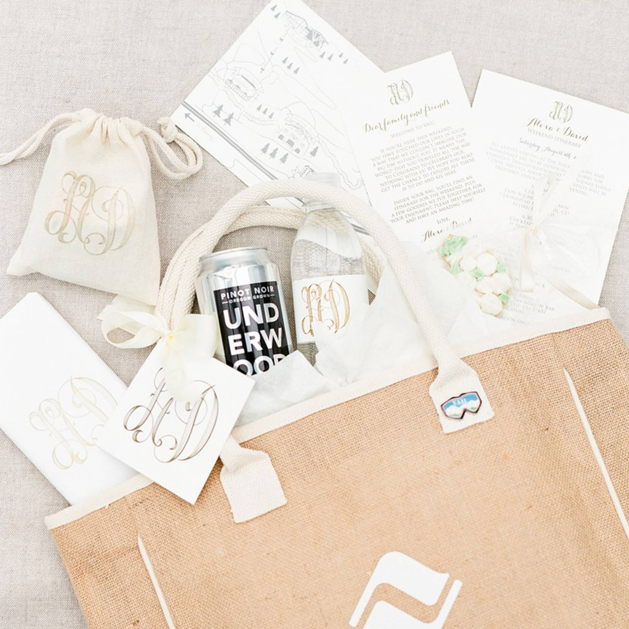 bridal party gift bag inspiration by Bundles Gift Co.