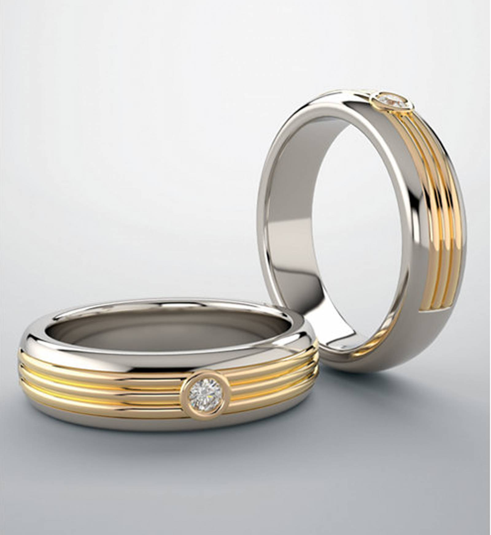 platinum and gold diamond wedding band designed by McCall Jewelry Company