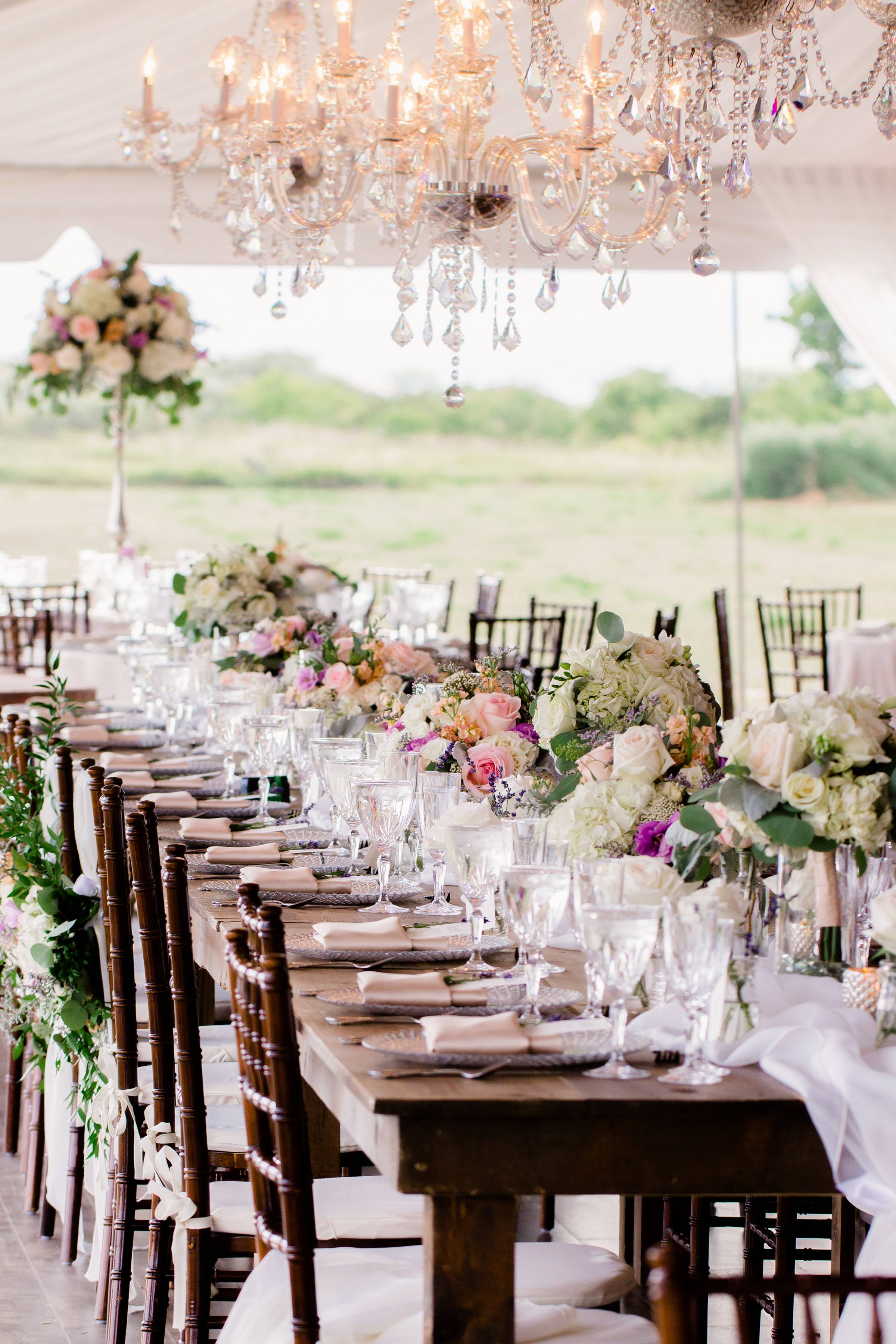 Colorado wedding planned by Revel & Roots Events | outdoor spring wedding reception table decor insp