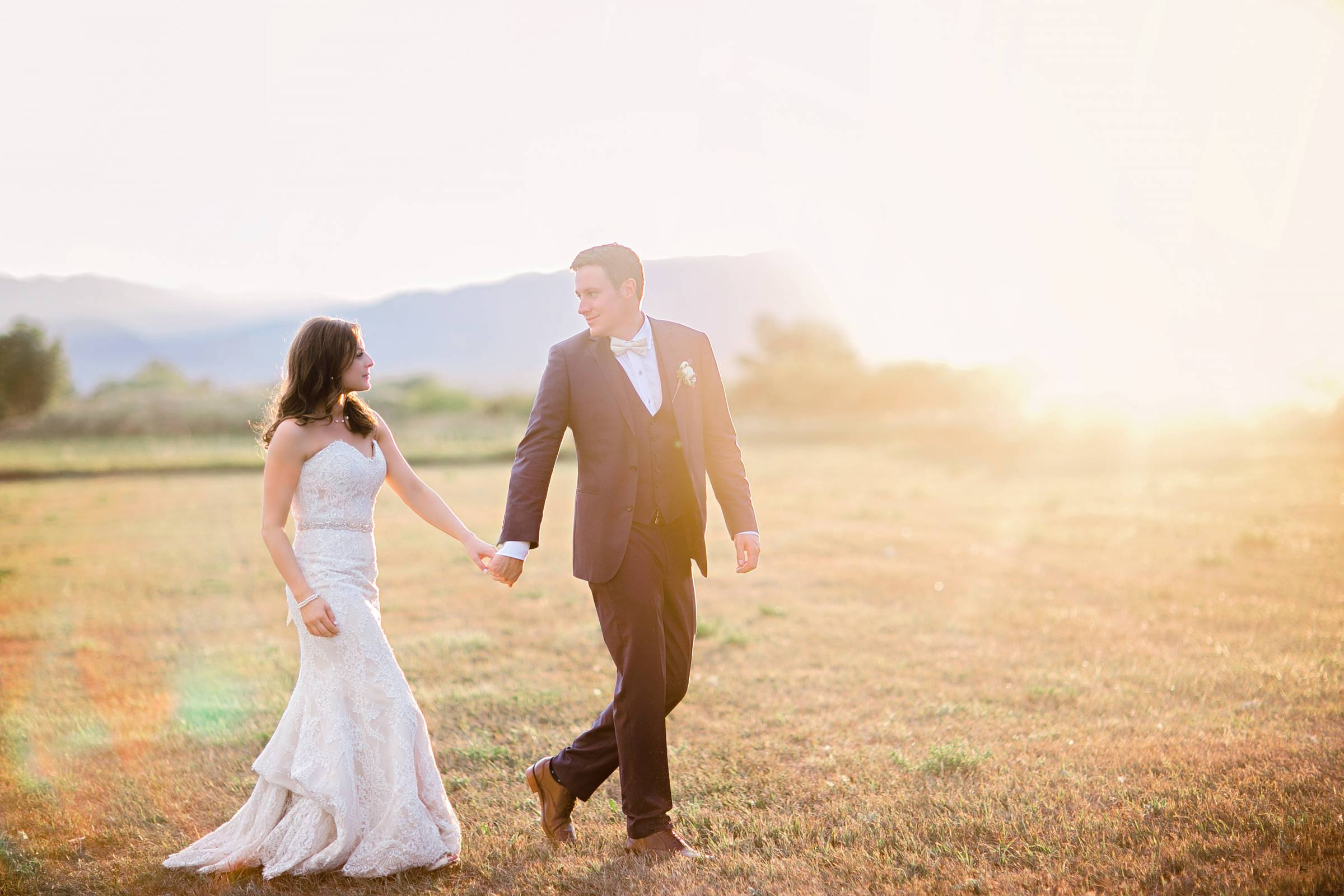 Rocky Mountain sunset photo of bride and groom | Colorado wedding planned by Revel & Roots Events |