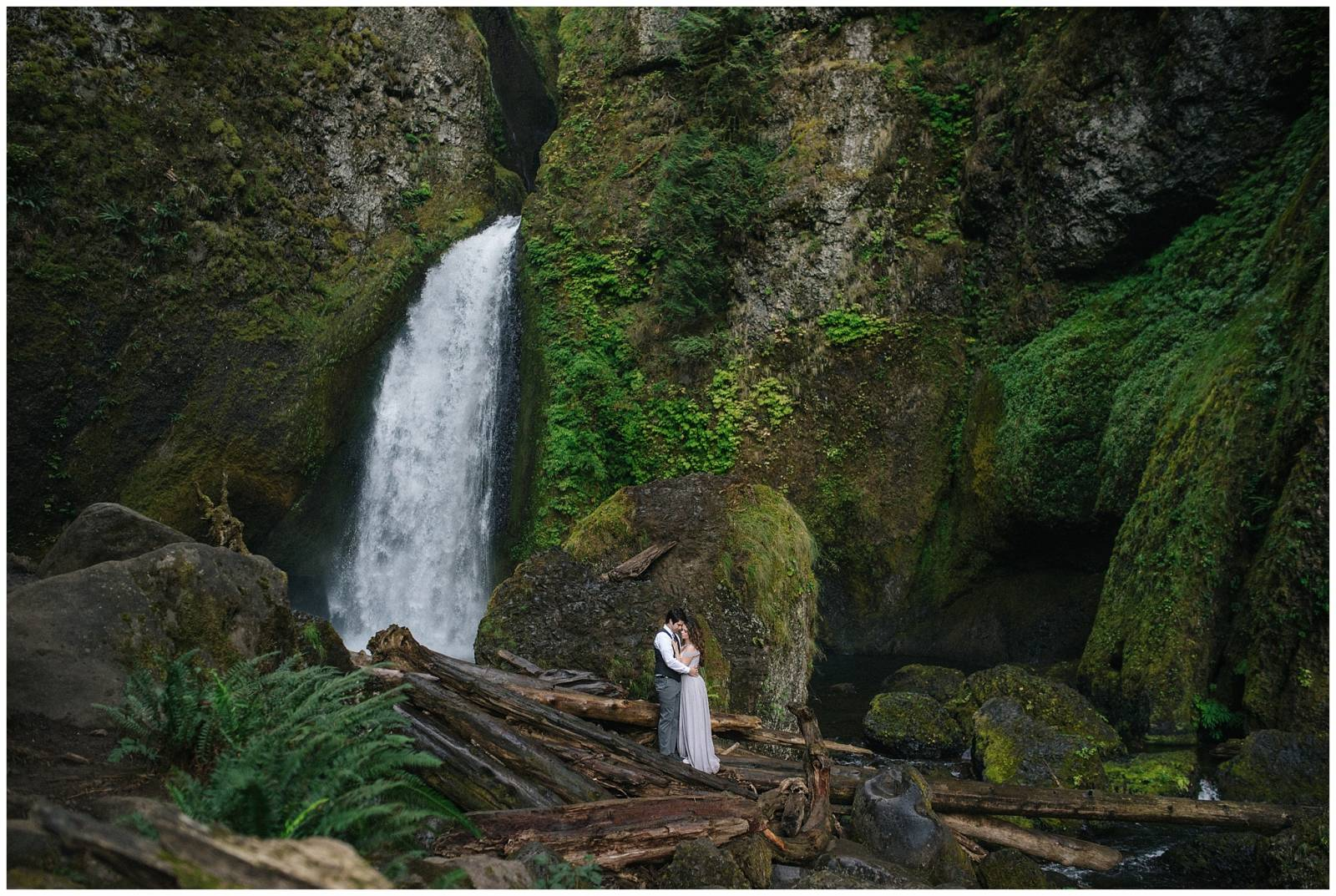 adventurous wedding portrait captured by Ali & Garrett Photographers
