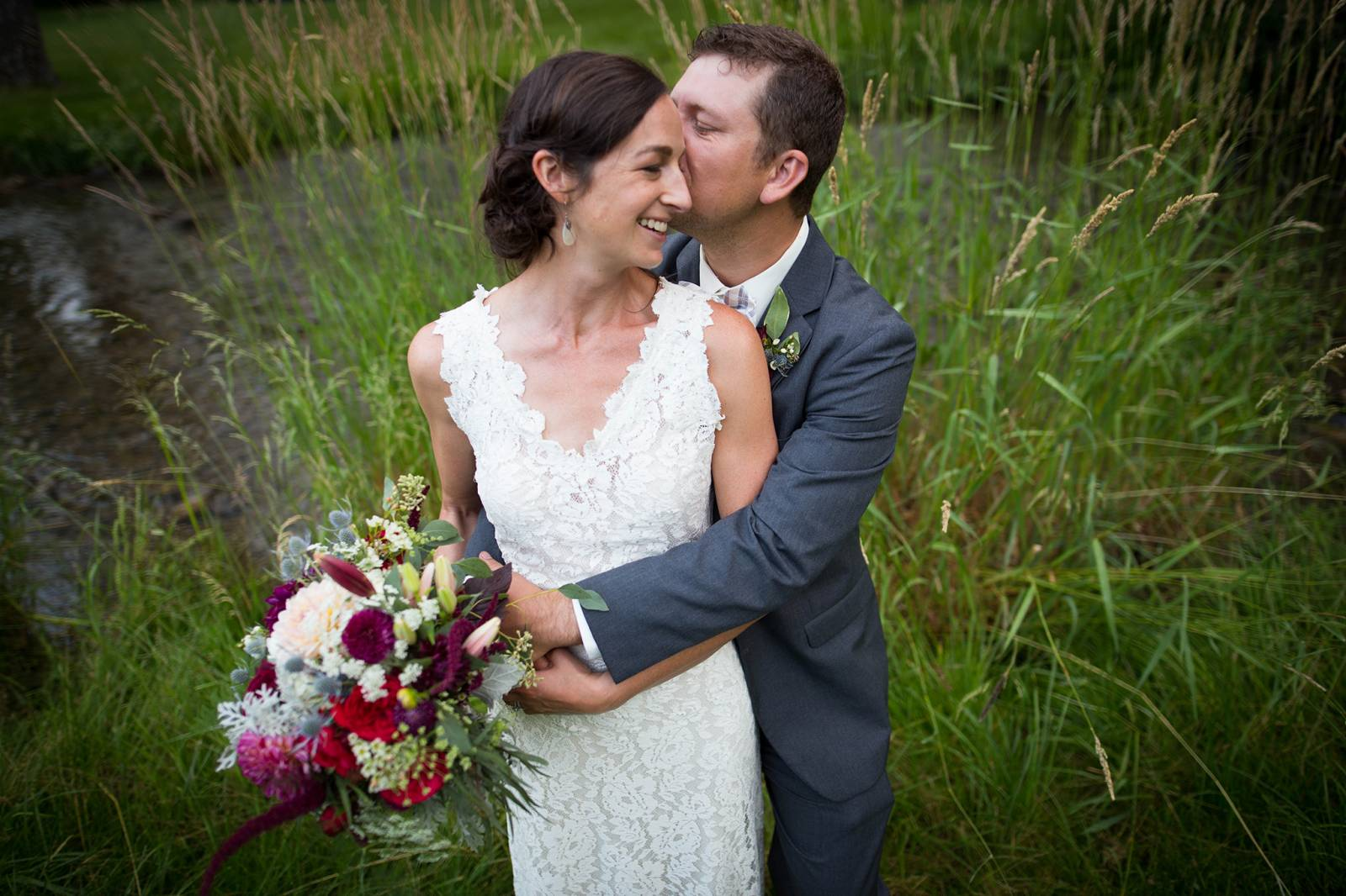 wedding portrait in the swamp  captured by 40 Watt Photo