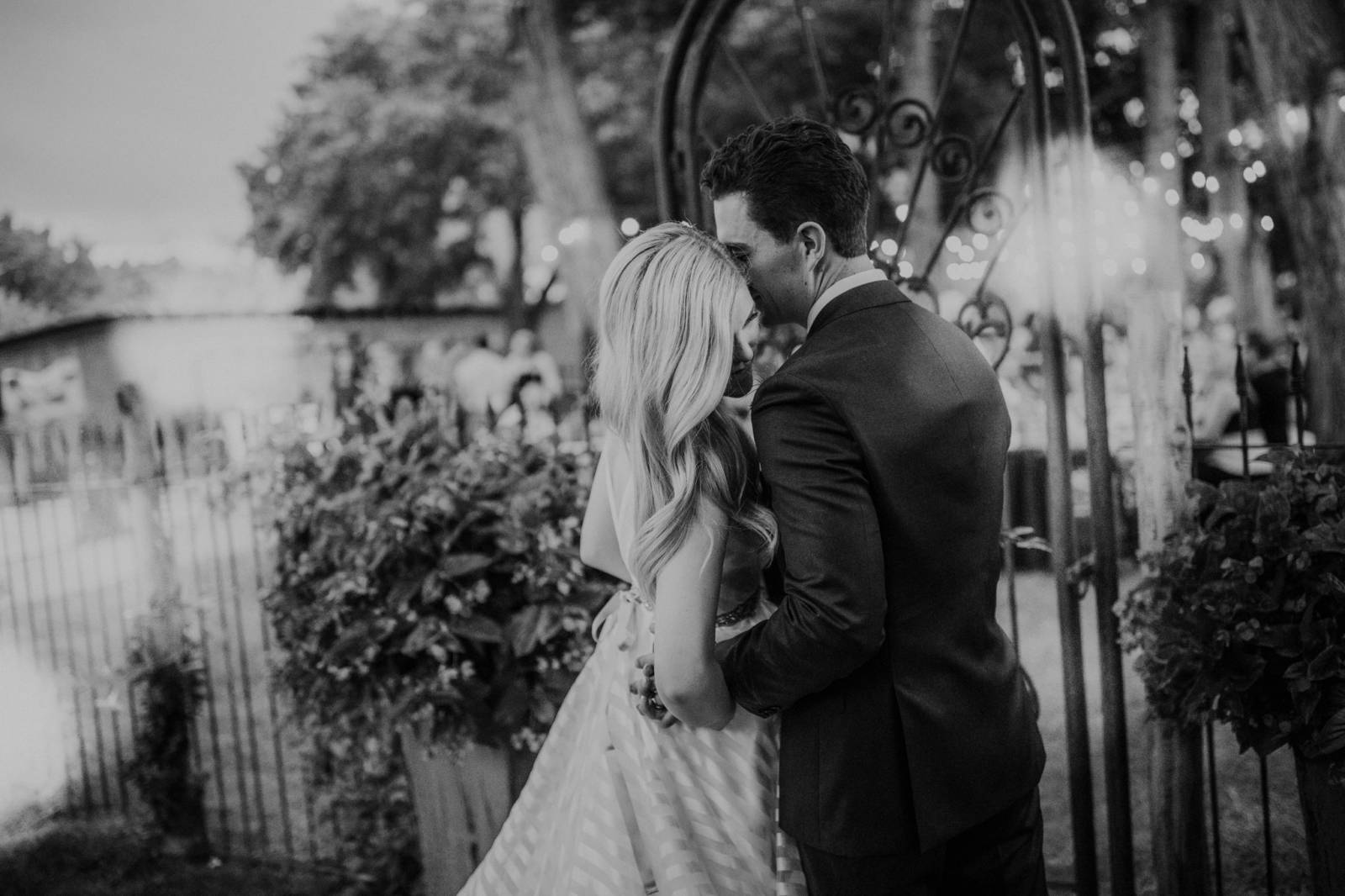 classic black and white wedding portrait captured by Albuquerque photographer Blue Rose Photography