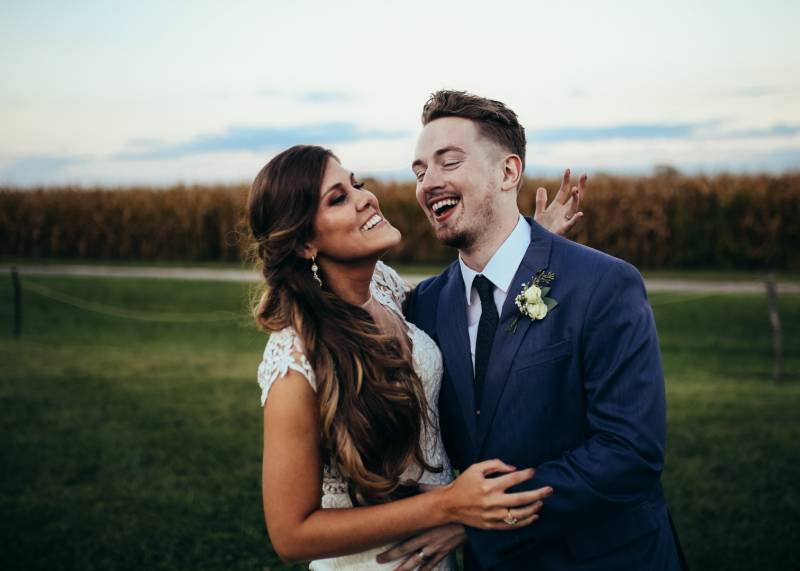Jaclyn Dickens Photography | outdoor wedding photo of bride and groom