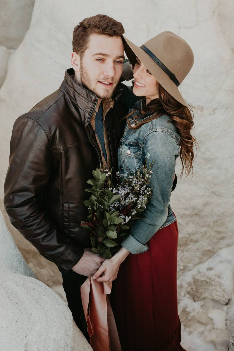moody engagement photo captured by Colorado photographer Mariana Ziegler Photography