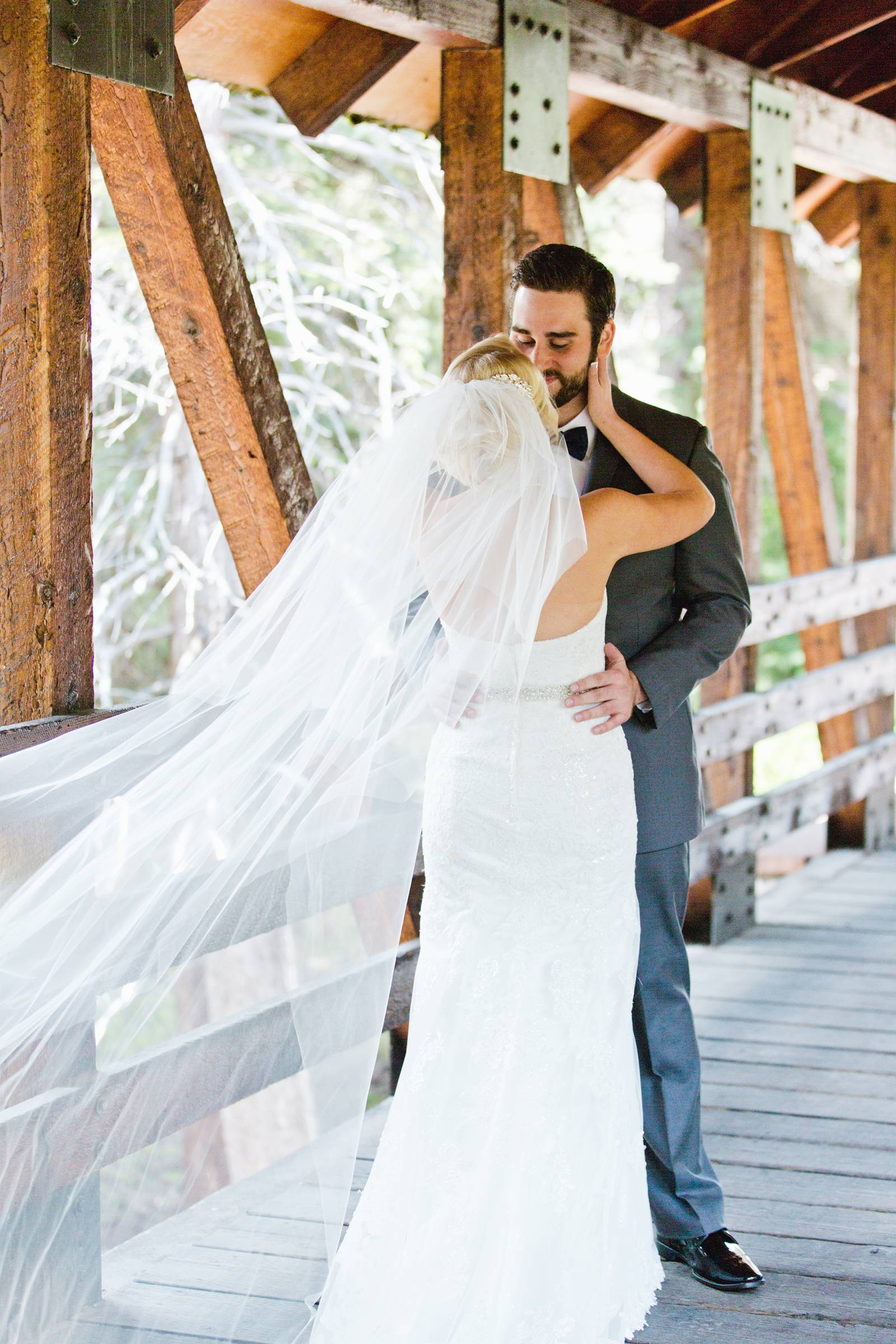 wedding day portrait of bride and groom | classy Rocky Mountain wedding in Vail, Colorado