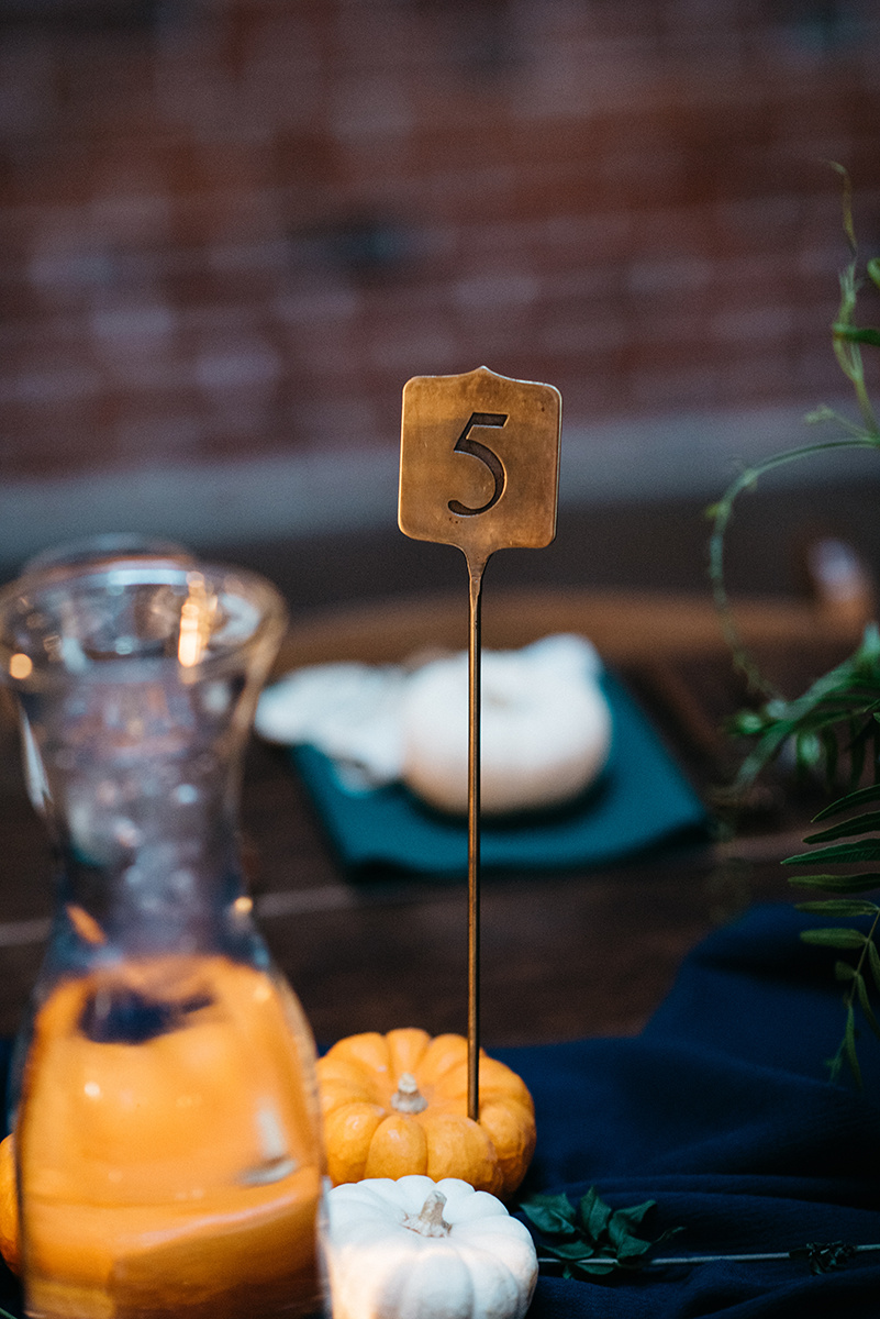 table numbers | fall wedding reception decor | Colorado wedding inspiration