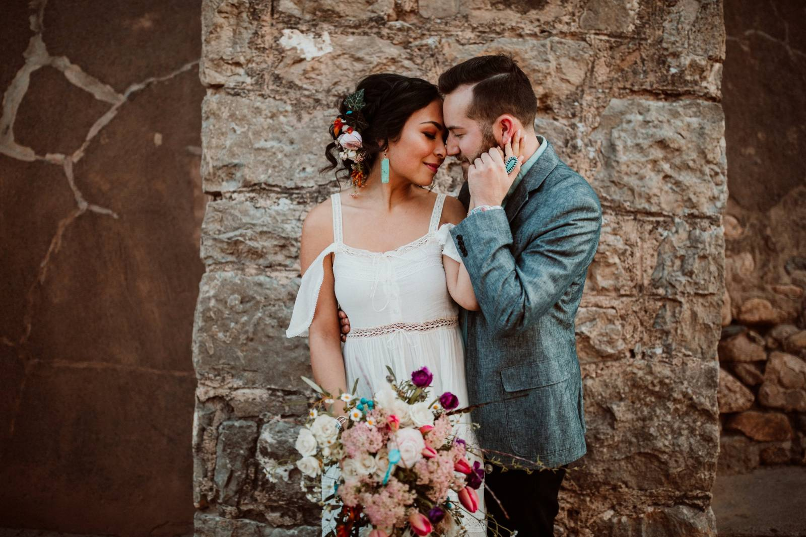southwestern styled wedding inspiration | Fall Sante Fe Wedding