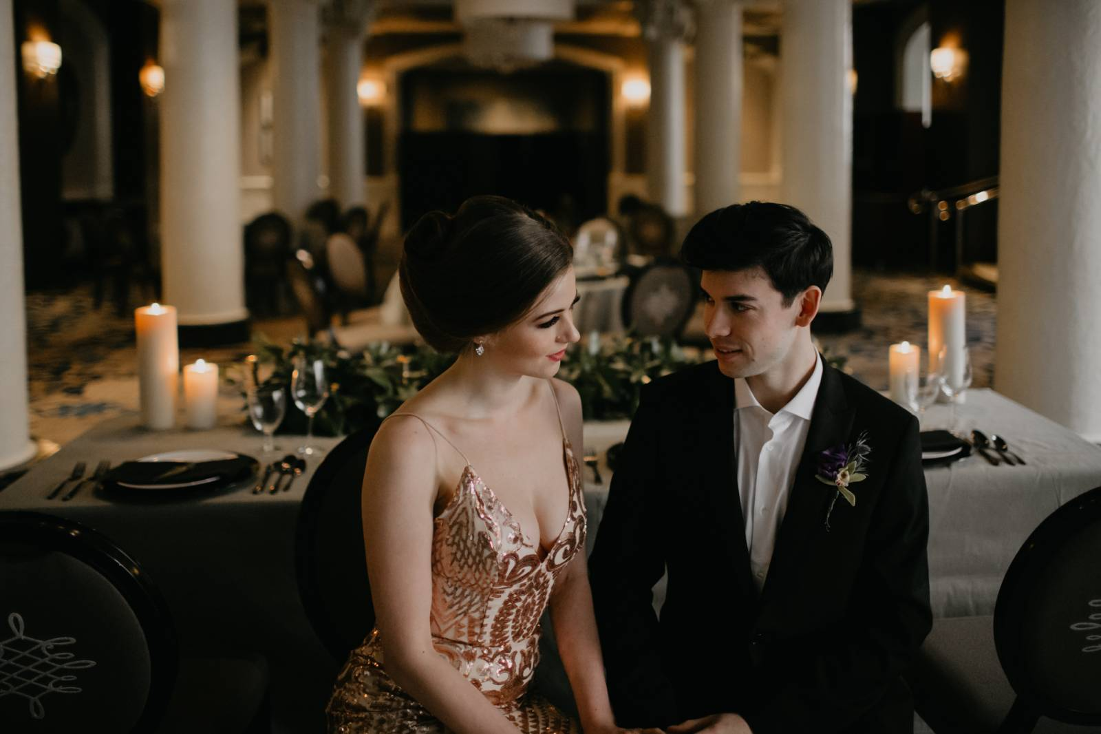 timeless glamour wedding inspiration at the Fairmont Empress styled by Vancouver Island Wedding Plan