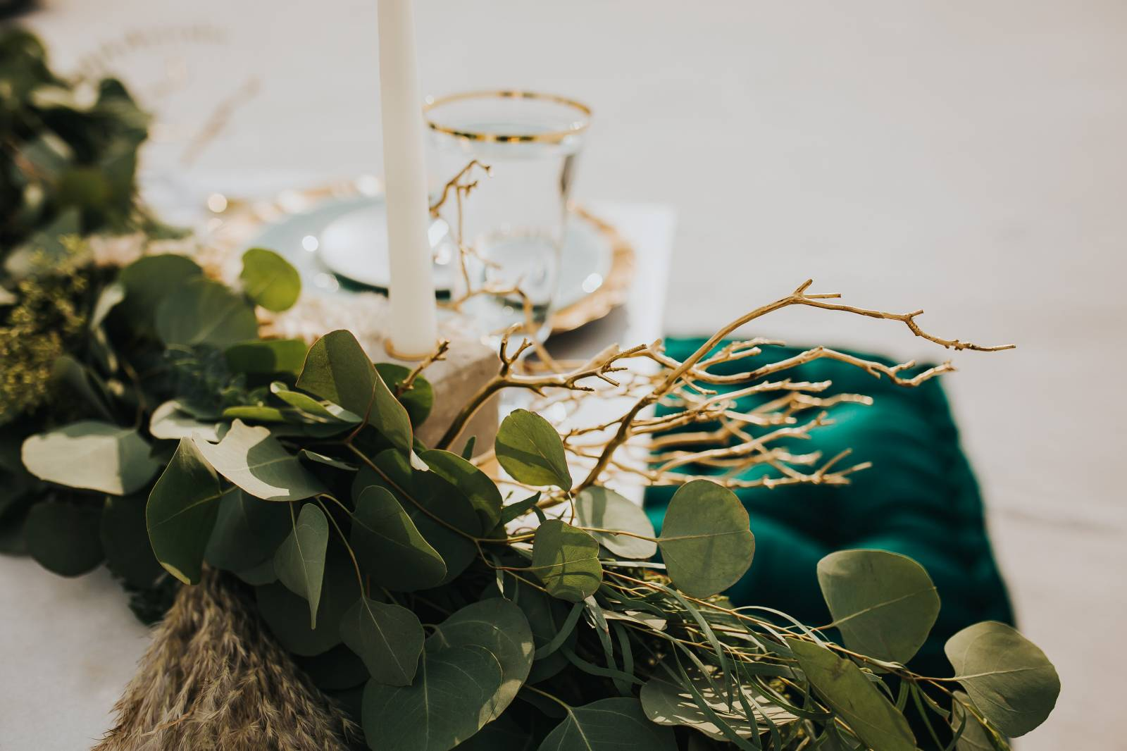 Salt Flats, Utah | gold and teal wedding inspiration | decor