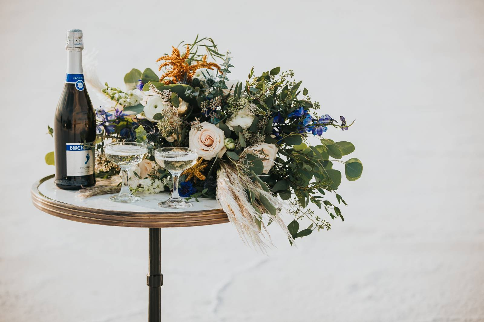 Salt Flats, Utah | gold and teal wedding inspiration | floral decor