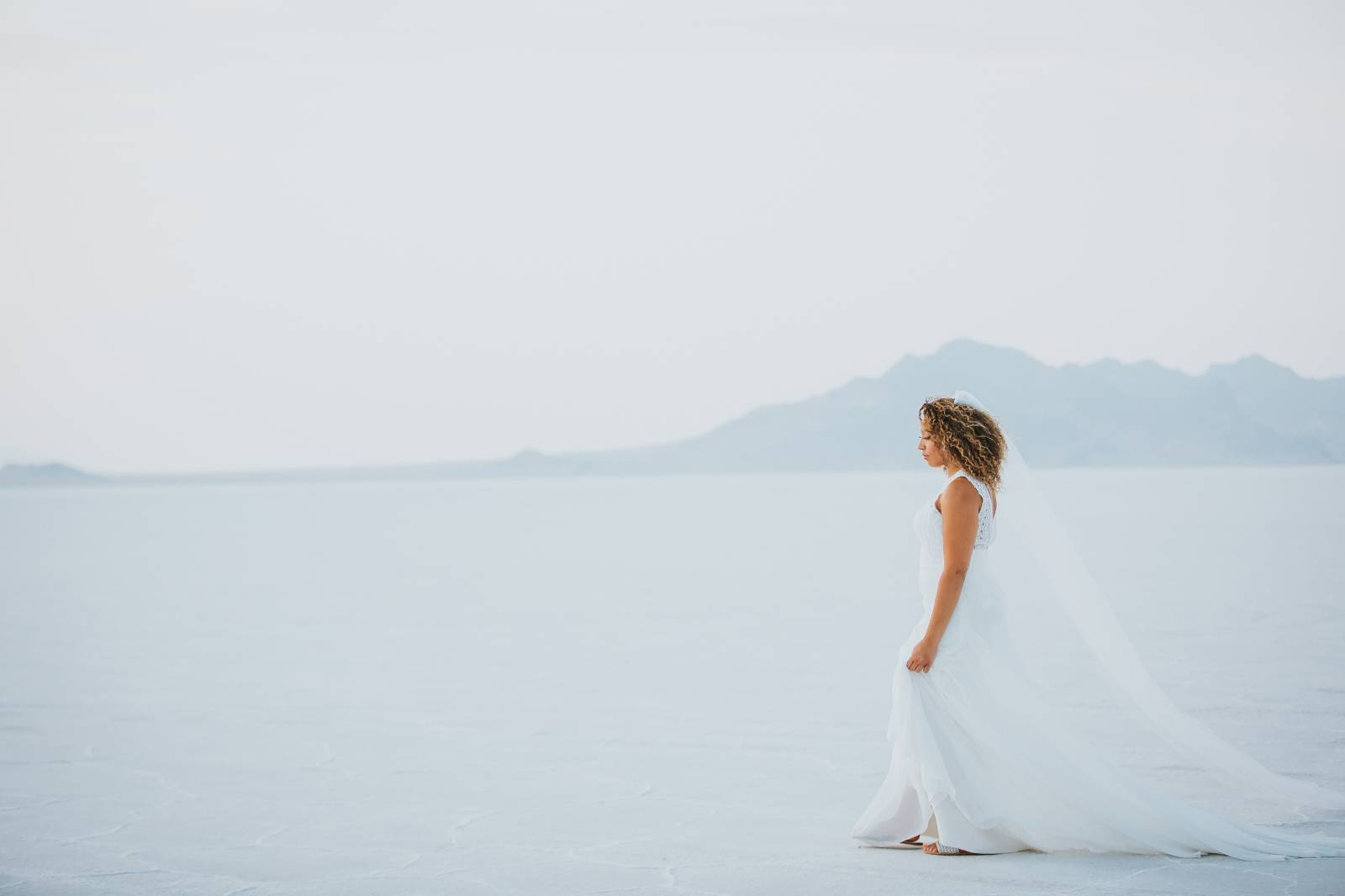 Salt Flats, Utah | gold and teal wedding inspiration | bride style