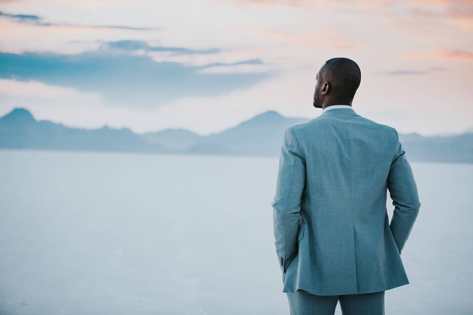 Salt Flats, Utah | gold and teal wedding inspiration | groom style