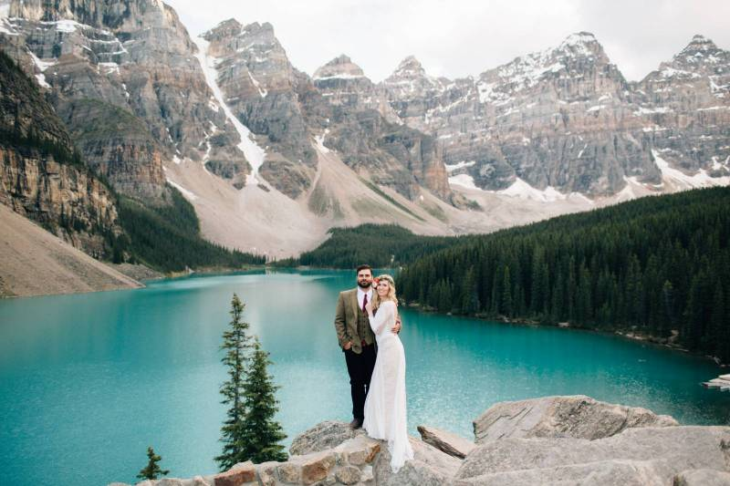 Moraine Lake Elopement Rocky Mountain Inspiration