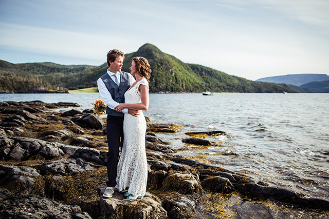 Relaxed Outdoor Wedding In Norris Point Newfoundland