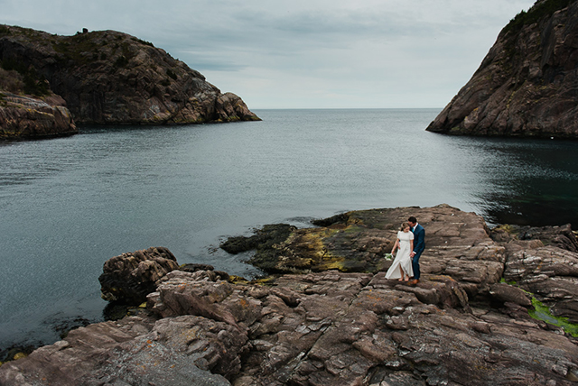 Josh And Danielles Causal Intimate Wedding In Quidi Vidi Complimented Their Personalities Perfectly As They Joined Hands Husband Wife