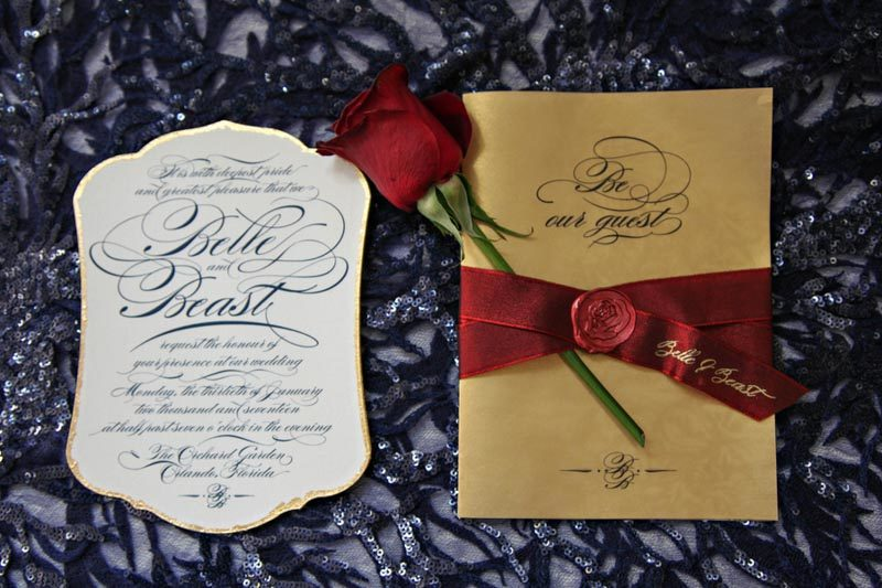 Beauty And The Beast Themed Wedding Invitations: Beauty And The Beast Wedding At Orchid Garden
