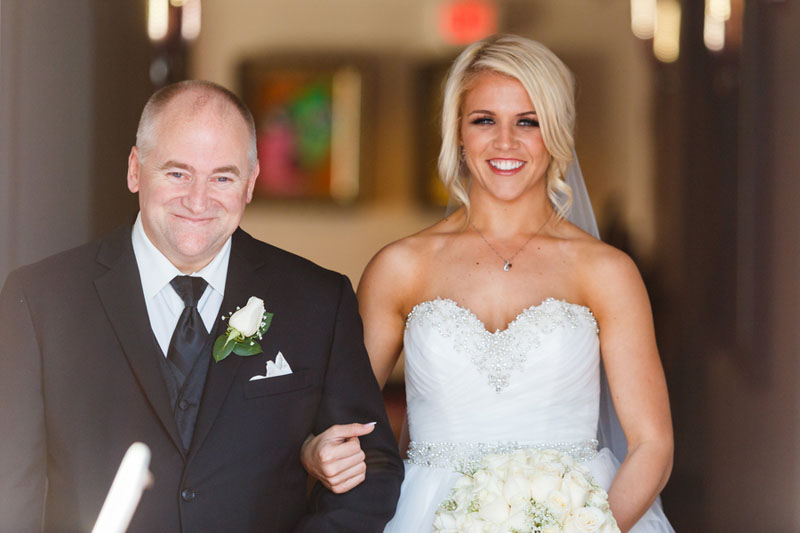 bride walking with father down the aisle