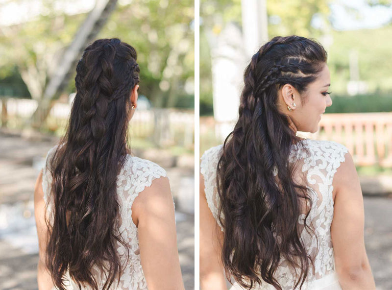 large braid bridal hair