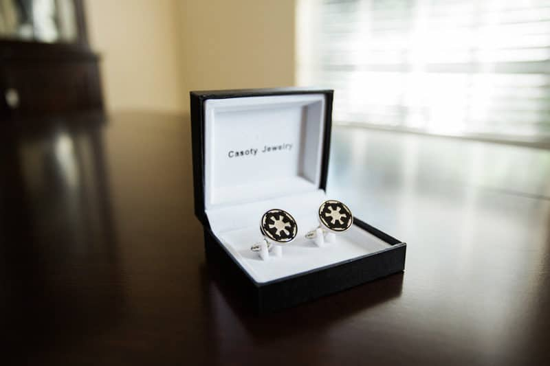 Galactic Empire cuff links for wedding