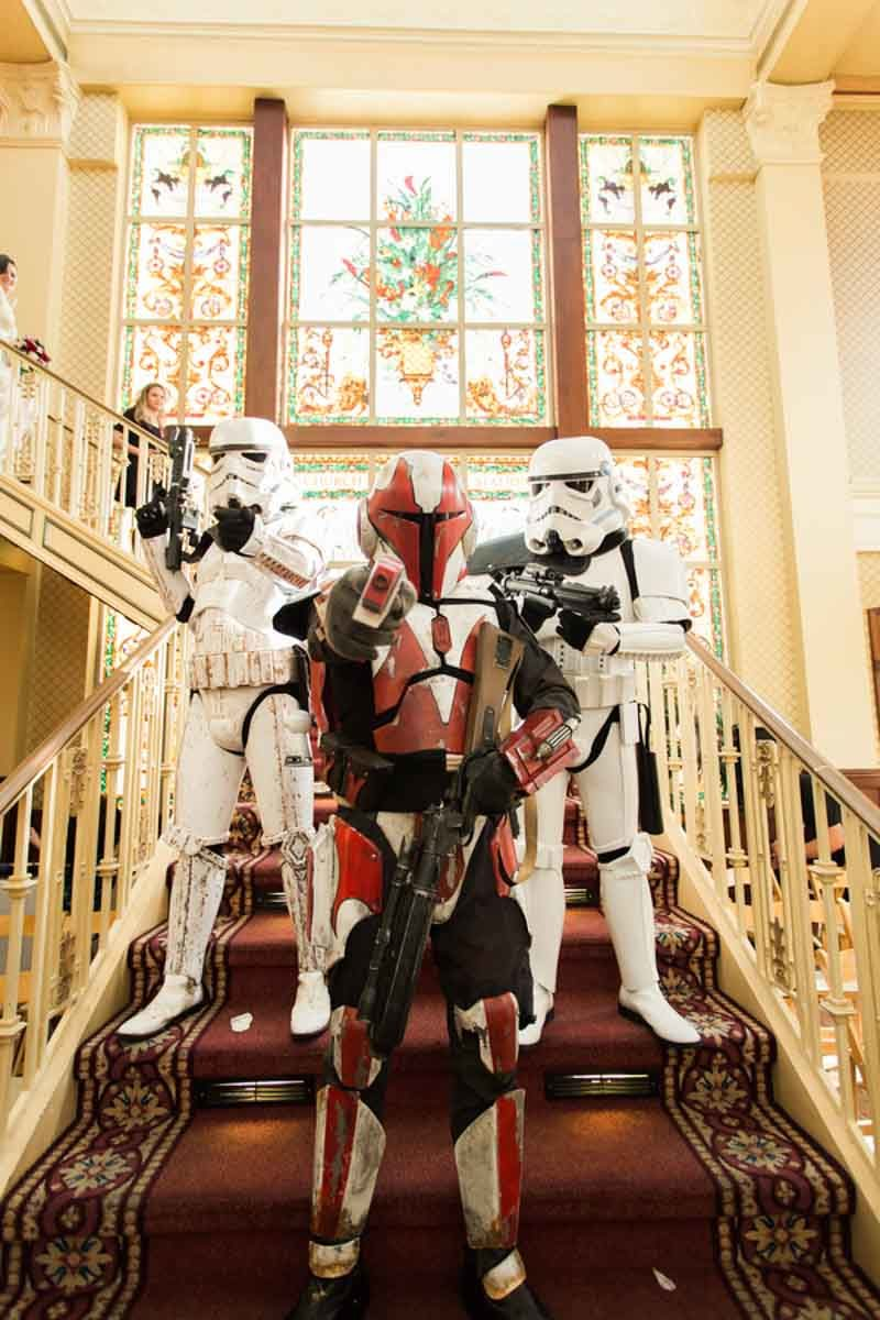 Star Wars Storm Troopers on staircase