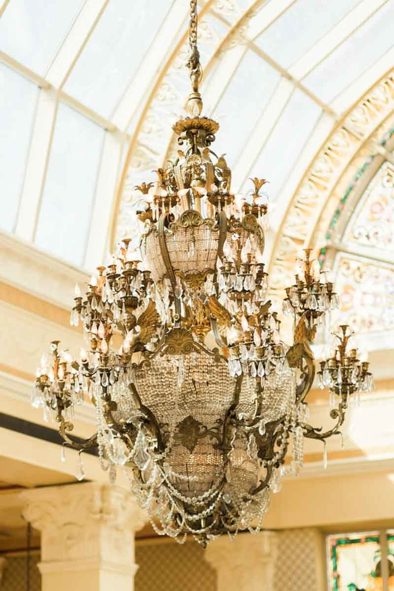 crystal chandelier at the Ballroom at Church Street