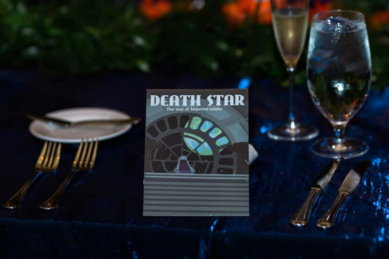 Death Star table number for Star Wars wedding