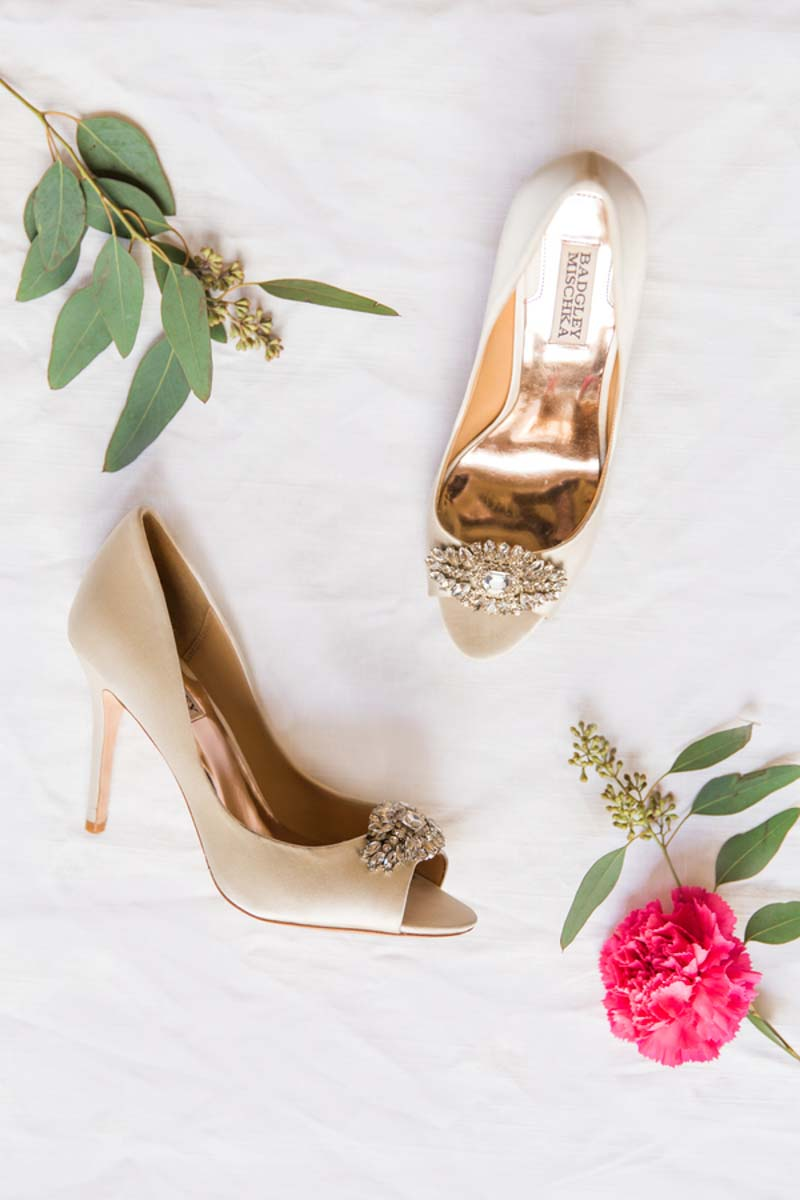 champagne badgley mischka bridal shoes