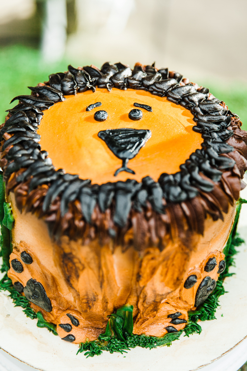 lion grooms cake