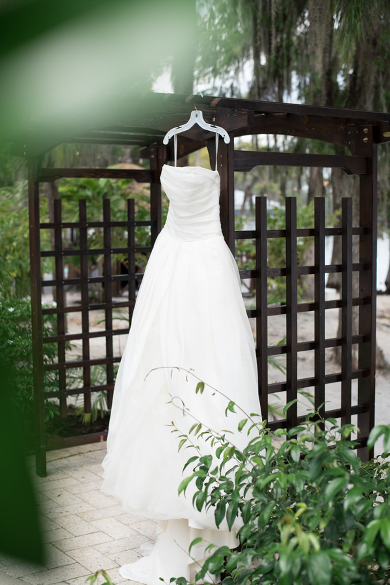 Vera Wang wedding dress for wedding at Paradise Cove