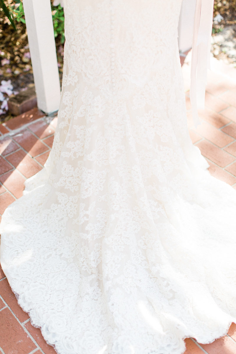lace on Anne Barge wedding dress