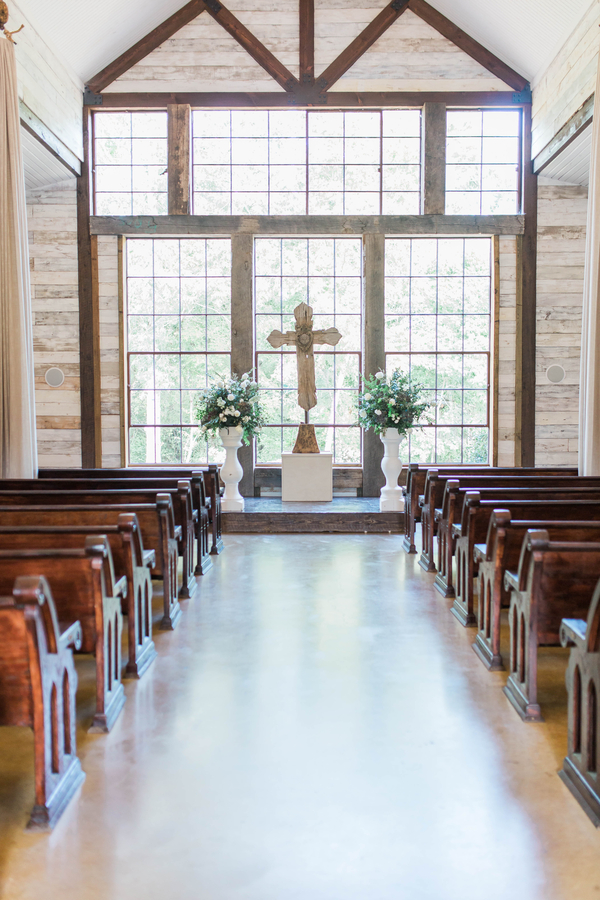 Chapel wedding ceremony space