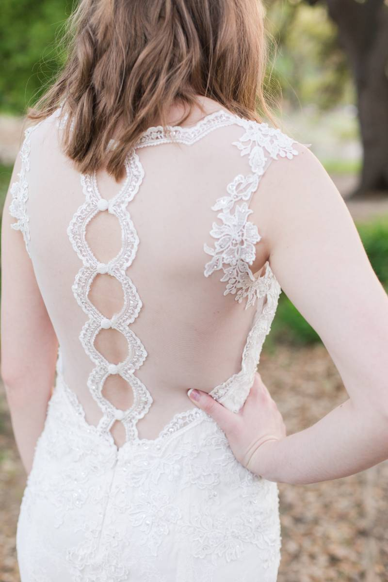 Illusion back to wedding dress