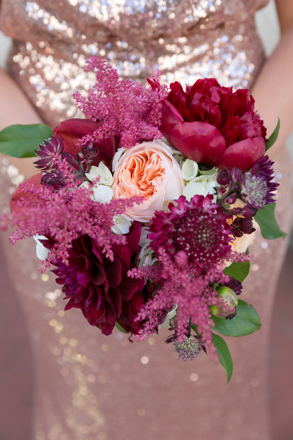 Deep purple bridal bouquet