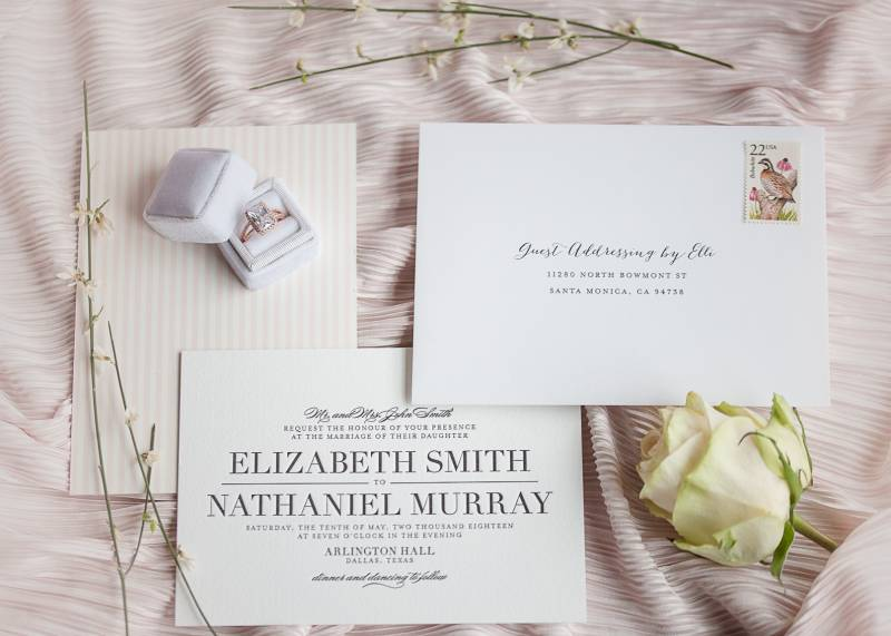 Cream wedding invitation suite