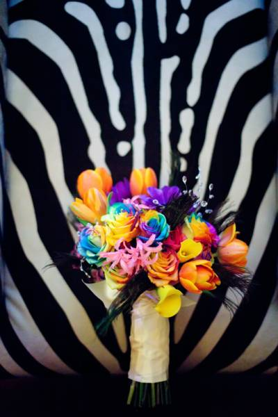 Bold and colorful Wedding Bouquet