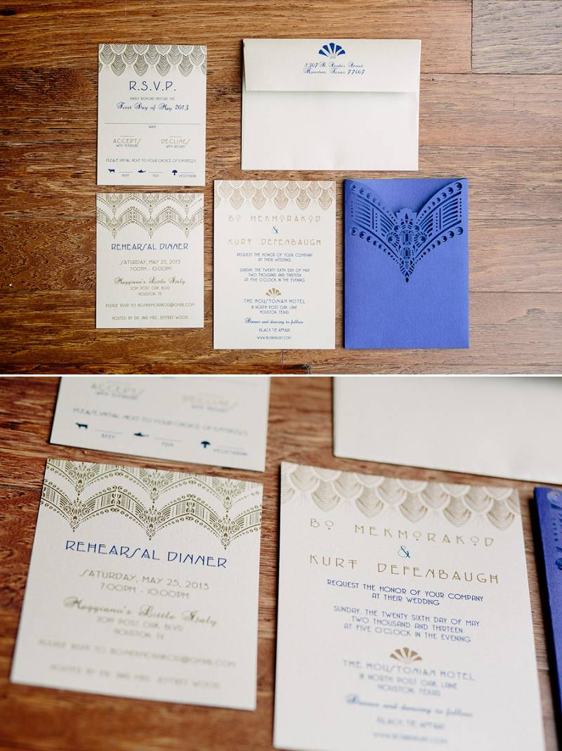 Houston Art Deco Wedding by Caroline Studios | Houston Real Wedding