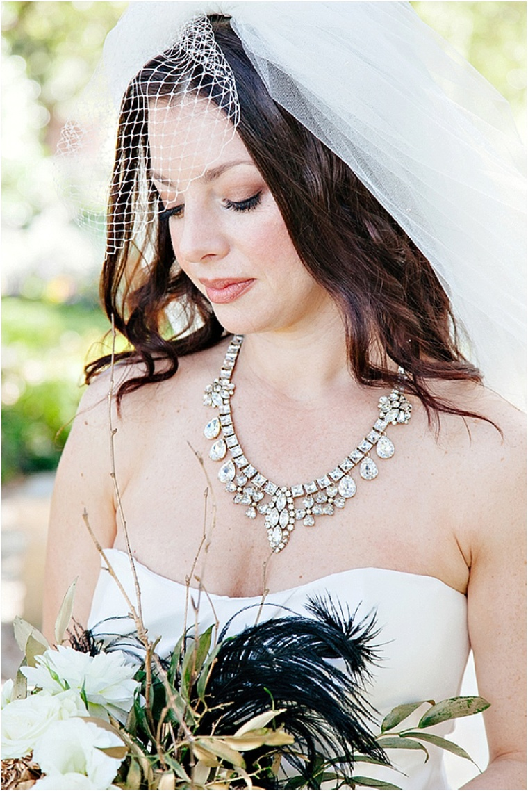 Modern makeup and bridal accessories
