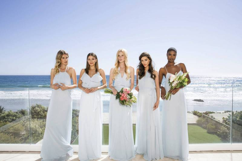 how to choose bridesmaid dresses that compliment the bride